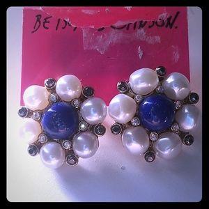 Betsey Johnson Earrings NWT nautical
